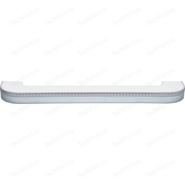 Карниз потолочный пластиковый DDA Поворот Греция трехрядный серебро 4.0