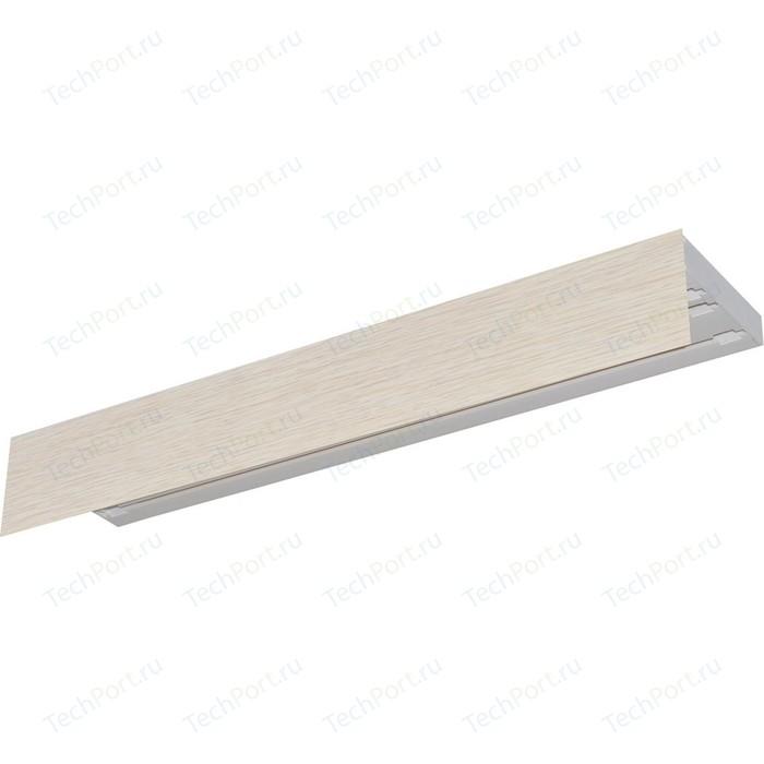 Карниз потолочный пластиковый DDA Прямой Винтаж трехрядный слоновая кость 3.4