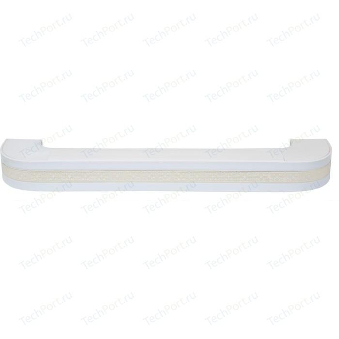 Карниз потолочный пластиковый DDA Поворот Акант двухрядный белый 3.4
