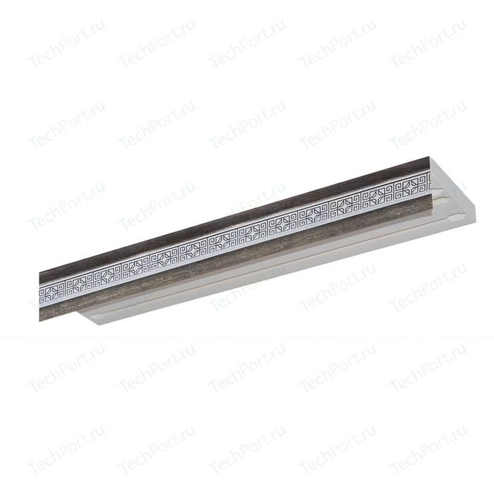 Карниз потолочный пластиковый DDA Прямой Акант двухрядный серебро 3.0