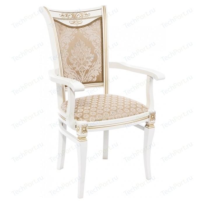 Кресло Woodville Mariano молочное