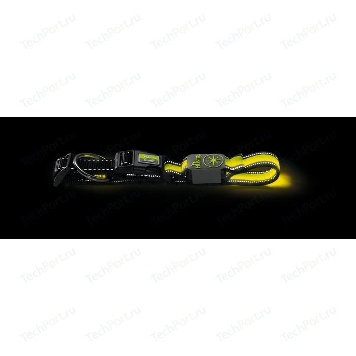 Ошейник Hunter LED Manoa Glow M 50-55/2.5 см желтый светящийся для собак свитер для собак каскад звезда 52001010 фиолетовый желтый размер m