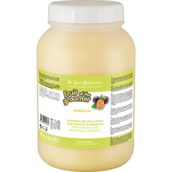 Маска Iv San Bernard Fruit of the Grommer Maracuja Mask for Long Coat восстанавливающая с протеинами для длинной шерсти животных 3 л
