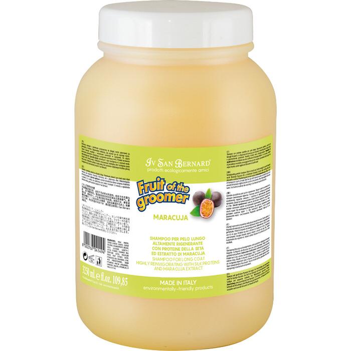 Шампунь Iv San Bernard Fruit of the Grommer Maracuja Shampoo for Long Coat с протеинами для длинной шерсти животных 3.25 л