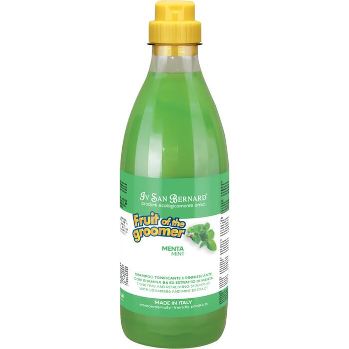 Шампунь Iv San Bernard Fruit of the Grommer Mint Tonifying & Refreshing Shampoo восстанавливающий с витамином B6 для любого вида шерсти животных 1 л