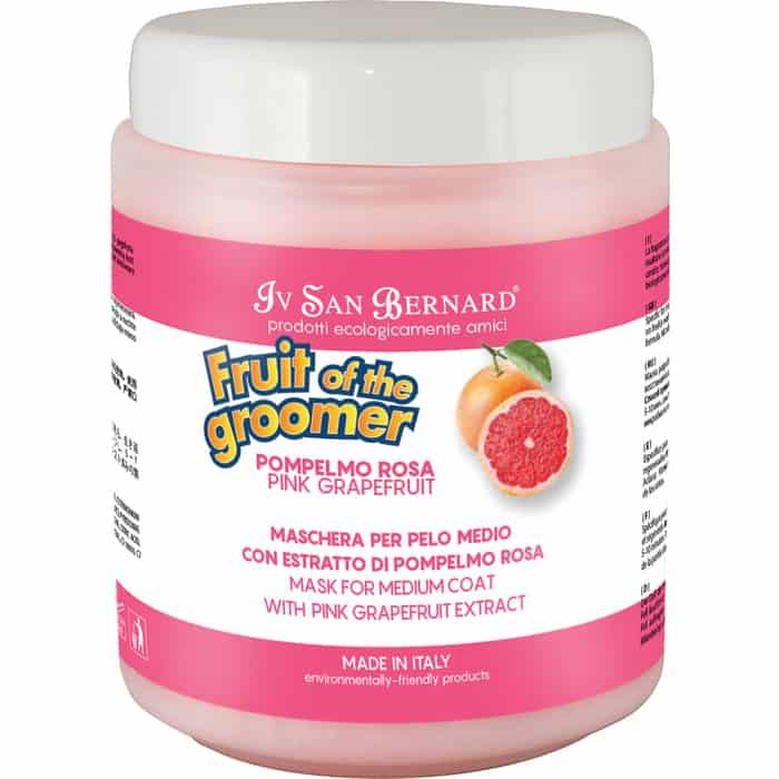 Маска Iv San Bernard Fruit of the Grommer Pink Grapefruit Mask for Medium Coat восстанавливающая с витамином B6 для шерсти средней длины 1 л