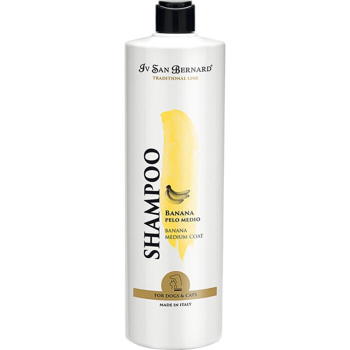 Шампунь Iv San Bernard Traditional Line Plus Shampoo Banana Medium Coat SLS Free для шерсти средней длины у животных 1 л
