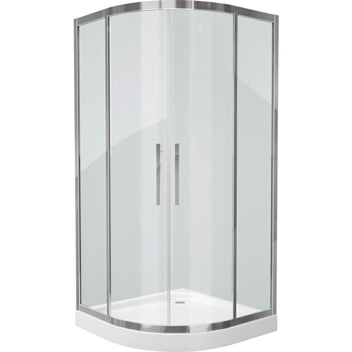 Душевой уголок Grossman 100x100 прозрачный, серебро (PR-100S)