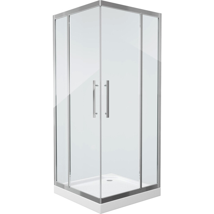 Душевой уголок Grossman 100x100 прозрачный, серебро (PR-100SQ)