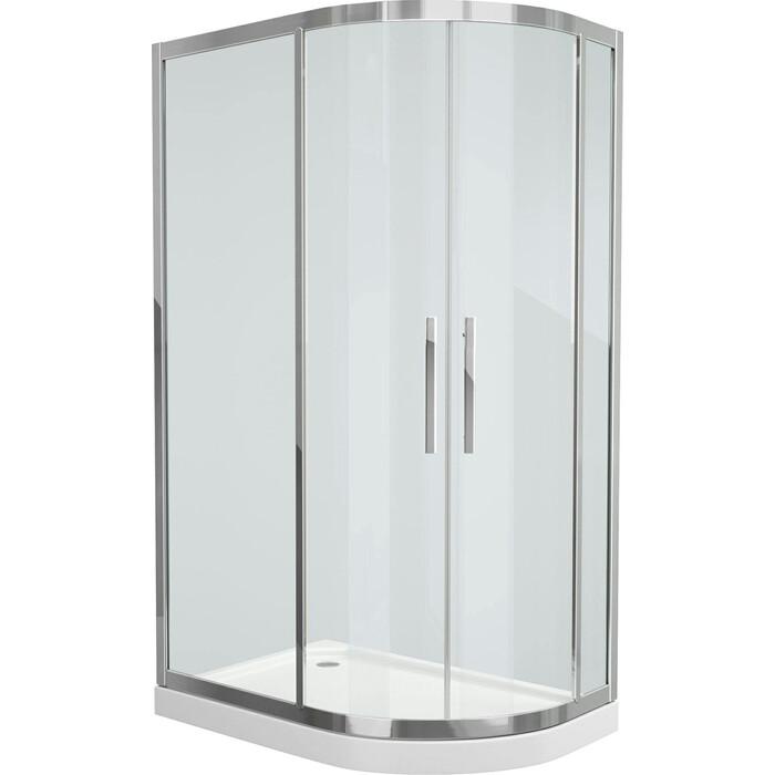 Душевой уголок Grossman 120x80 прозрачный, серебро, левый (PR-120SL)