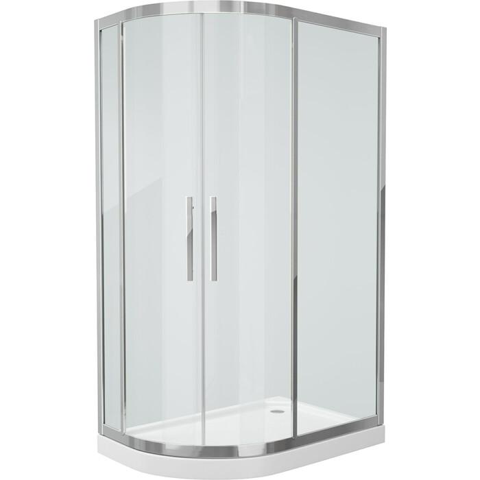 Душевой уголок Grossman 120x80 прозрачный, серебро, правый (PR-120SR)