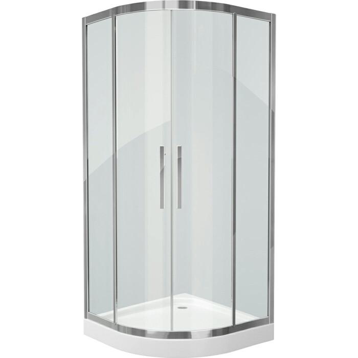 Душевой уголок Grossman 90x90 прозрачный, серебро (PR-90S)