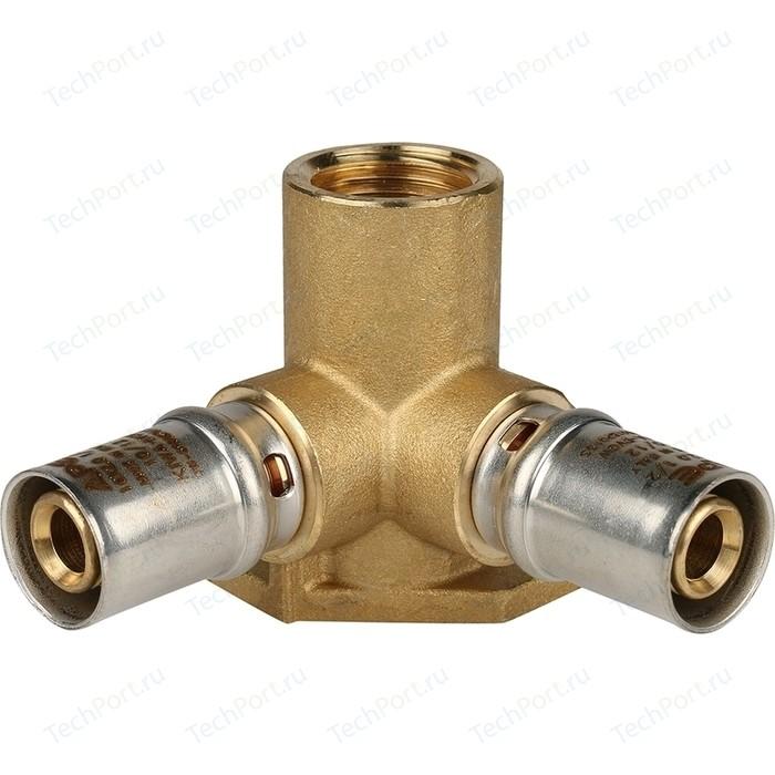 Тройник STOUT настенный с креплением 1/2 х 16 для металлопластиковых труб прессовой (SFP-0015-001216) тройник stout переходной 26х20х16 для металлопластиковых труб прессовой sfp 0005 262016