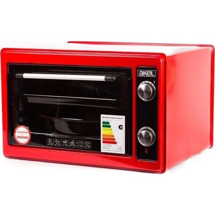 Мини-печь AKEL AF-720 красный