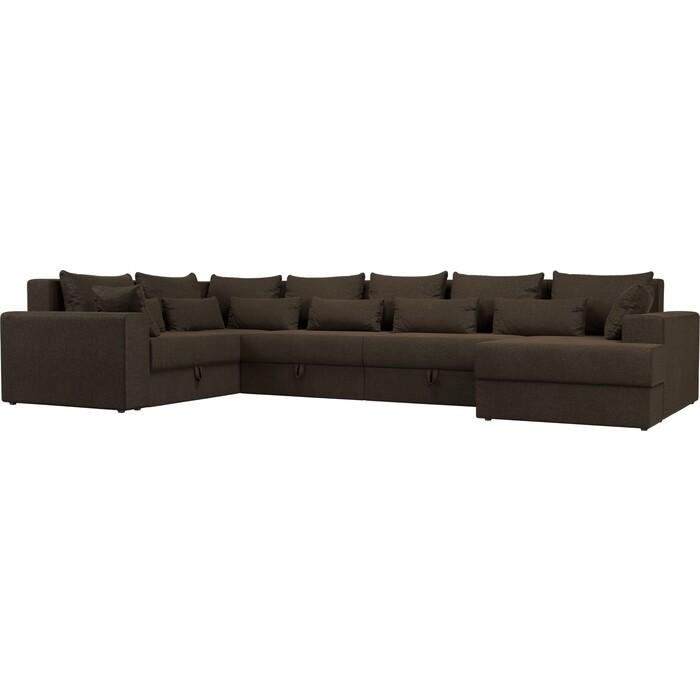 Угловой Диван Мебелико Мэдисон-П левый угол рогожка коричневый угловой диван мебелико мэдисон п левый угол рогожка бежевый