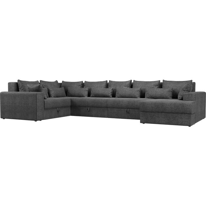 Угловой Диван Мебелико Мэдисон-П левый угол рогожка серый угловой диван мебелико мэдисон п левый угол рогожка бежевый