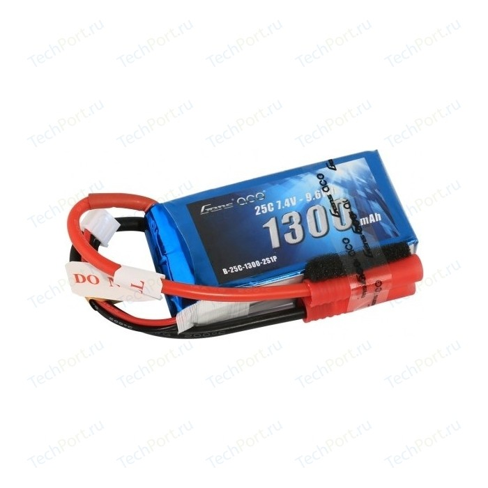 Аккумулятор Gens Li-Po 7.4 V 1300 mAh 25C (2S1P) - B25C13-2S