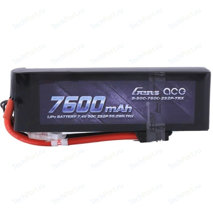 Аккумулятор Gens Li-Po - 7.4 V 7600 mAh 2S2P 50C (Deans, EC3, Traxxas, Tamiya)