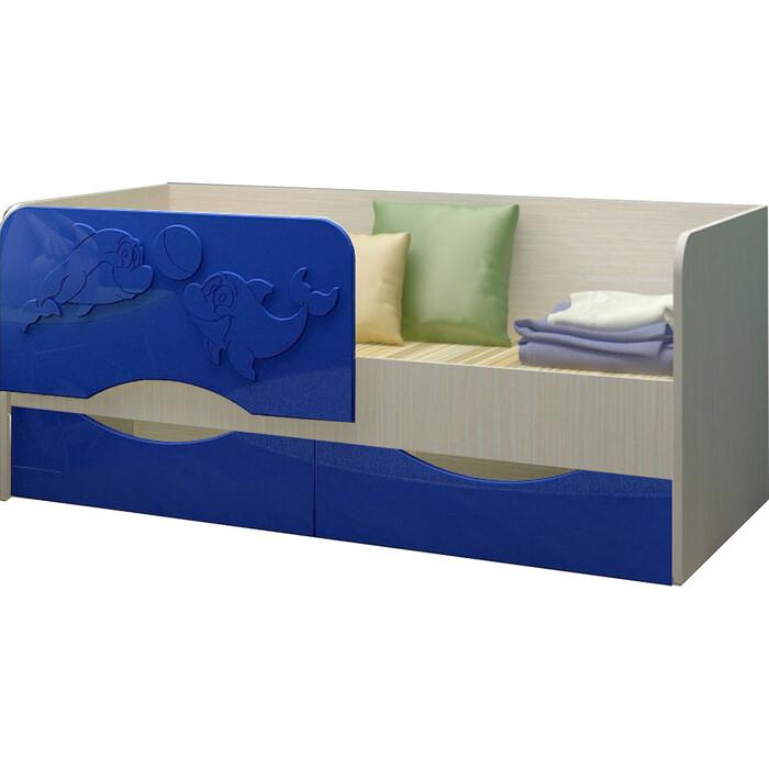Кровать Регион 58 Дельфин 2 тёмно-синий МДФ 80x160