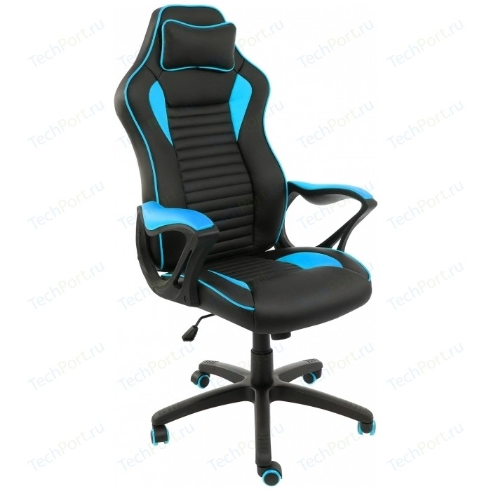 Компьютерное кресло Woodville Leon черное/голубое