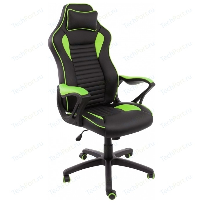 Компьютерное кресло Woodville Leon черное/зеленое