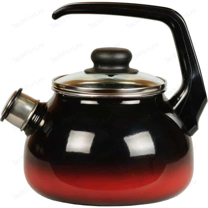 Чайник эмалированный со свистком 3.0 л СтальЭмаль Кармен (4с209я)