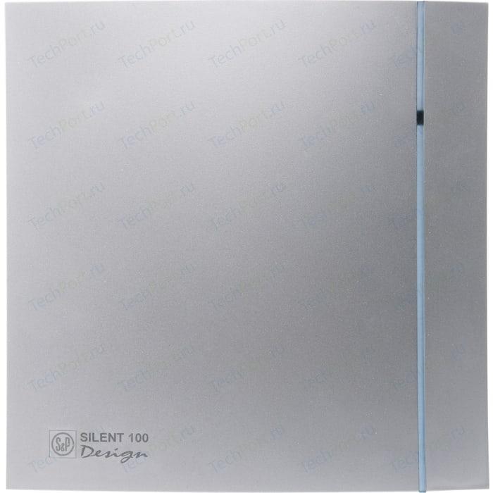 Вентилятор Soler&Palau осевой вытяжной с обратным клапаном D 100 (Silent100CZ Silver DESIGN)
