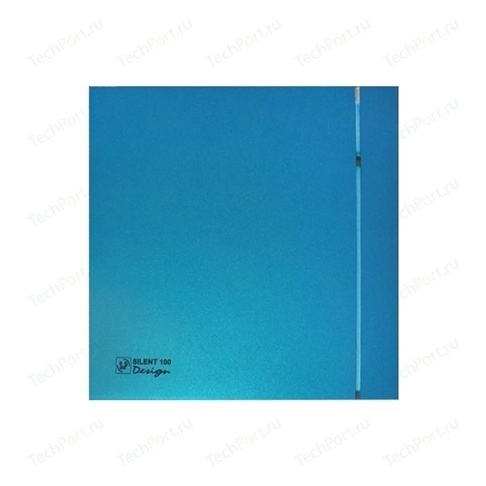 Вентилятор Soler&Palau осевой вытяжной с обратным клапаном D 100 (Silent100CZ Blue DESIGN-4C)