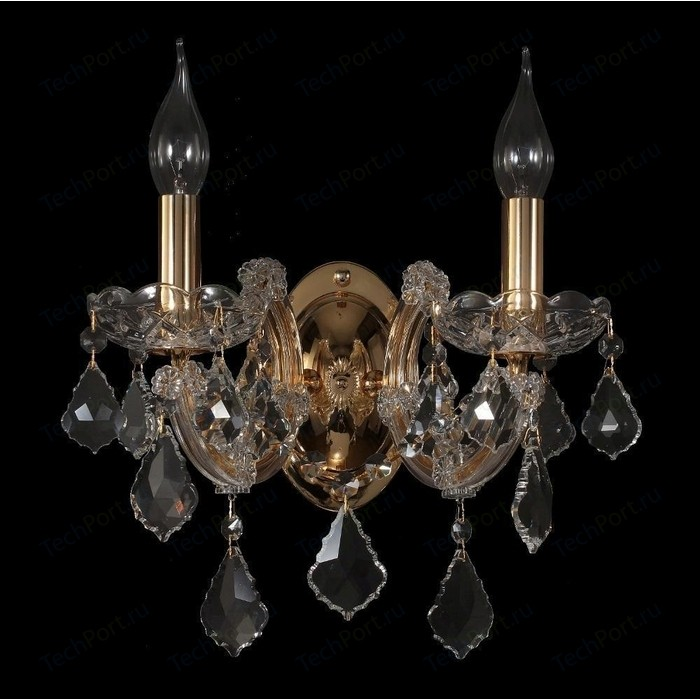 купить Бра Crystal Lux Ines AP2 Gold/Transparent в интернет-магазине