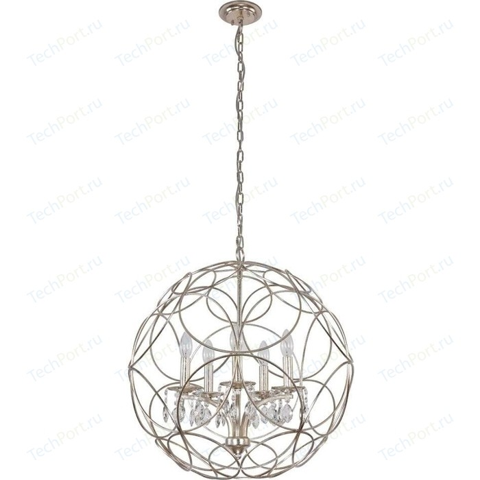 Подвесная люстра Crystal Lux Aria SP5 Silver люстра ideal lux firenze sp5 bianco antico firenze