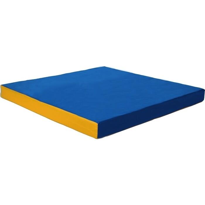 Мат КМС № 2 (100 x 100 10) сине-жёлтый