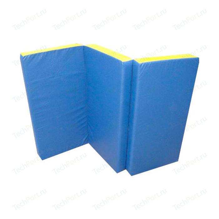 Мат КМС № 4 (100 x 150 10) складной сине-жёлтый