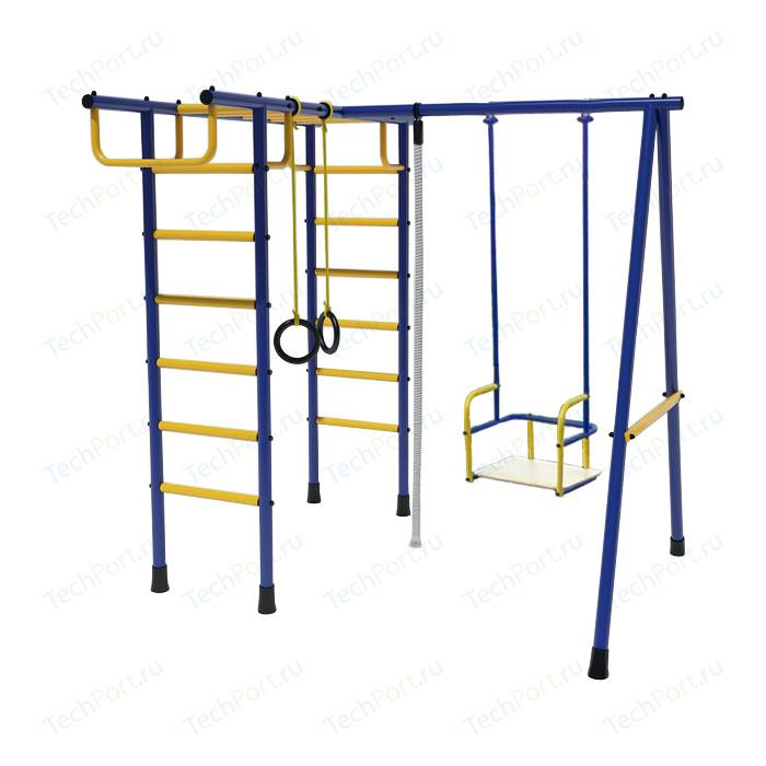 Игровой комплекc Лидер Д2-01 (металлические качели) сине/жёлтый