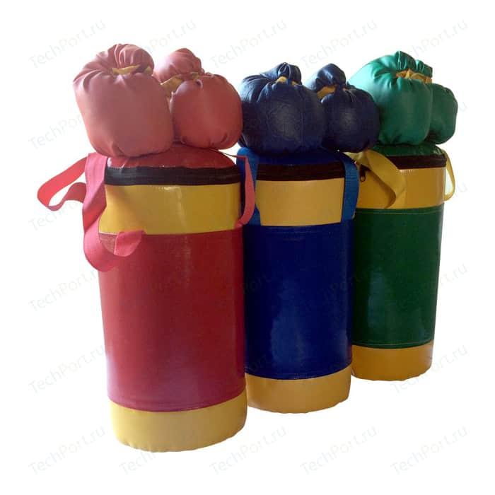 Набор боксерский КМС детский № 2 (мешок 5 кг., перчатки, трос) зелёно/жёлтый