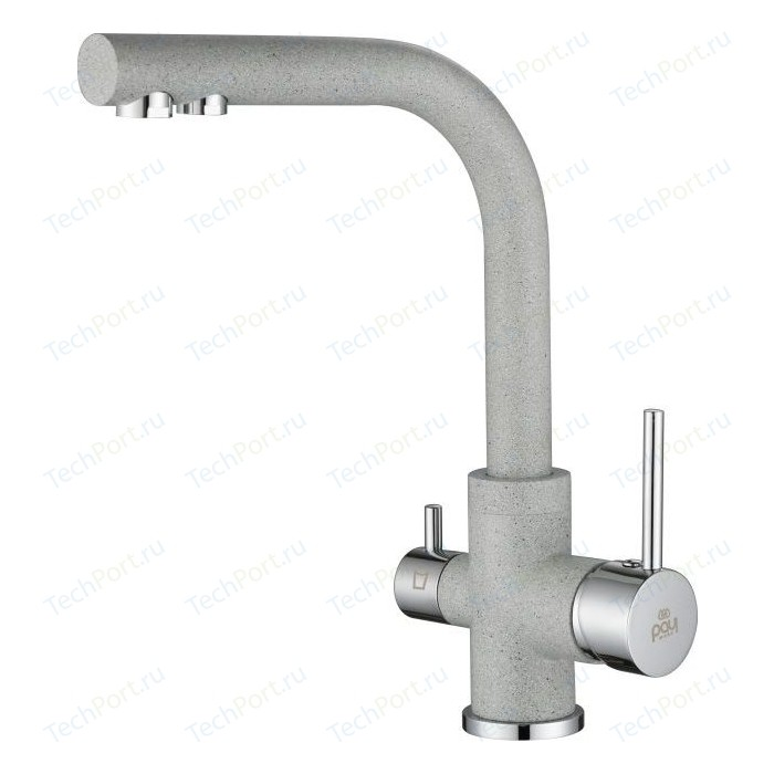 Смеситель для кухни Paulmark Essen под фильтр, серый (Es213011-310)