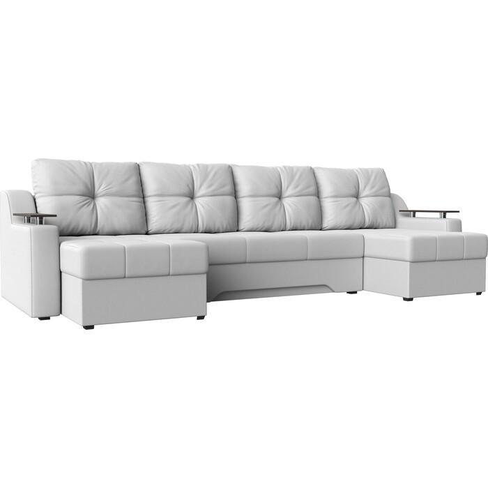 Угловой диван АртМебель Сенатор-П эко-кожа белый