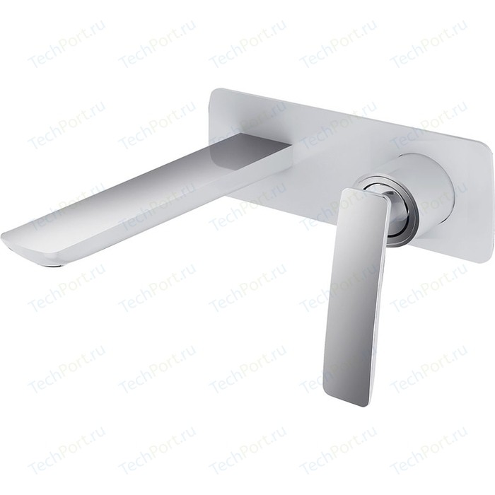 Смеситель для раковины Timo Helmi скрытого монтажа (4071/00-16SM chrome white) хром - белый