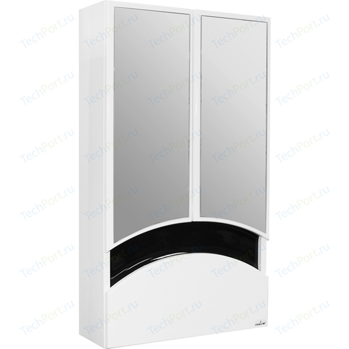 Зеркальный шкаф Mixline Радуга 46 чёрный (2130305224769)