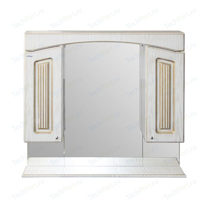 Зеркало-шкаф Mixline Крит 85 патина золото (2405175331313)