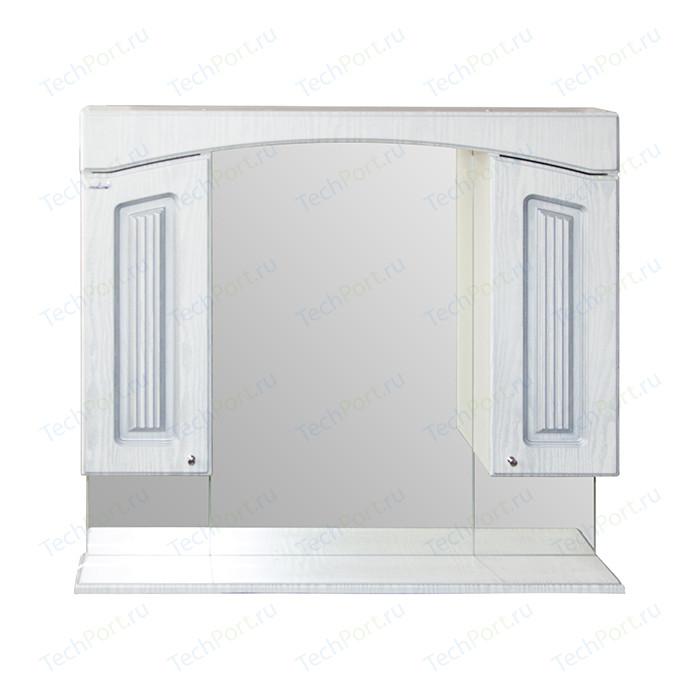 Зеркало-шкаф Mixline Крит 85 патина серебро (2405175331306)