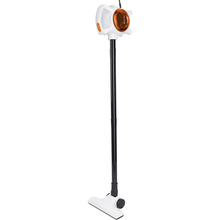 Вертикальный пылесос KITFORT KT-526-3 оранжевый/белый