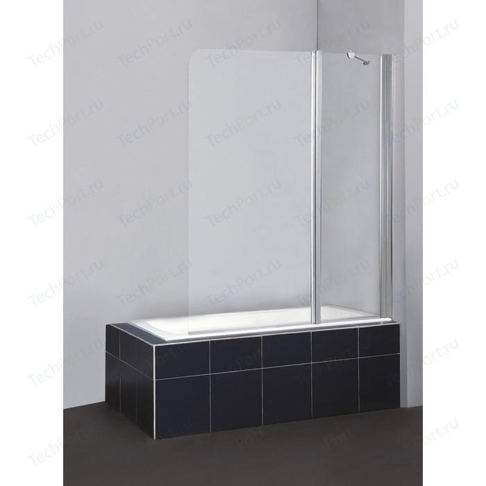 Шторка на ванну BelBagno Sela V-11-120 прозрачная, хром (SELA-V-11-120/140-C-Cr)