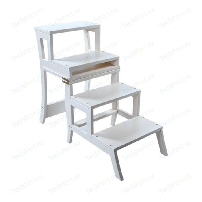 Стул-лестница Мебель Импэкс Leset Бруклин белый пуф мебель импэкс leset бегемот мини темно коричневый
