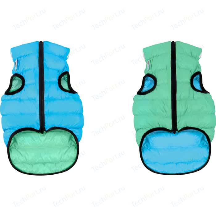 Курточка CoLLaR AiryVest Lumi двухсторонняя светящаяся салатово-голубая размер XS 25 для собак (2142)