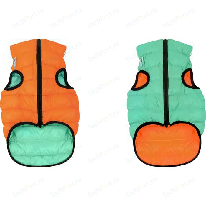 Курточка CoLLaR AiryVest Lumi двухсторонняя светящаяся оранжево-салатовая размер S 35 для собак (2187)