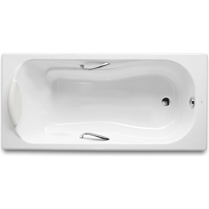 Чугунная ванна Roca Haiti 170x80 Antislip, с отверстиями для ручек (2327G000R)