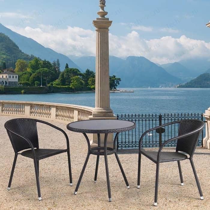 цена на Комплект мебели из искуственного ротанга Afina garden T282ANS/Y137C-W53 brown (2+1)