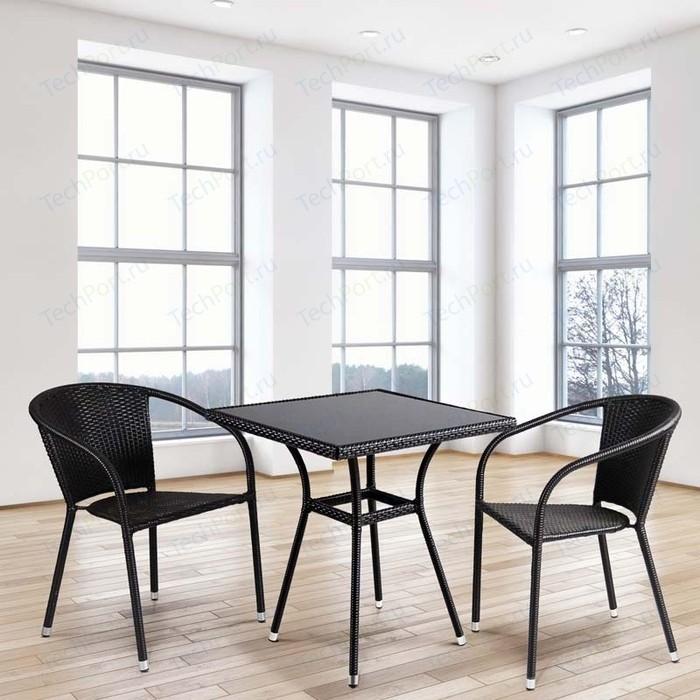 Комплект мебели из искуственного ротанга Afina garden T282BNS/Y137C-W53 brown (2+1)