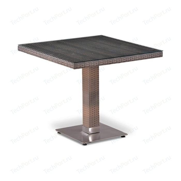 Стол из искусственного ротанга Afina garden T503SG-W1289-80x80 pale