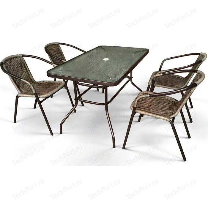 Комплект мебели Afina garden Николь 3B CDC01/CDT016-120x70 brown (4+1)